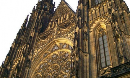 Gothic interior design in Prague