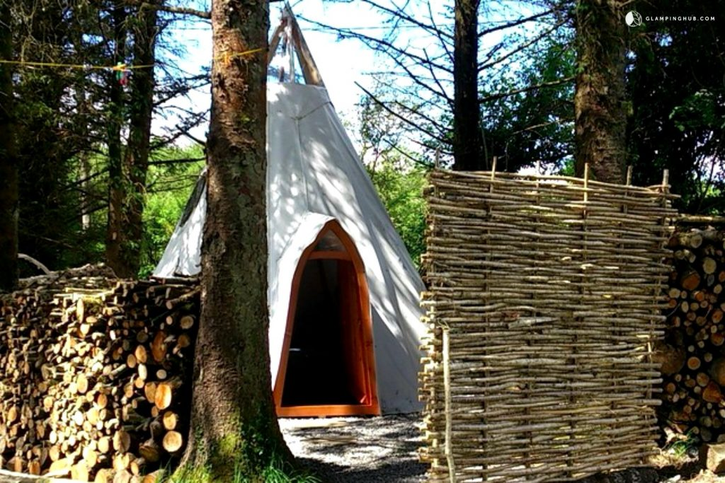 Green Glamping from Modern Tipi on Family-Friendly Cider Orchard, Ireland - Glamping Hub